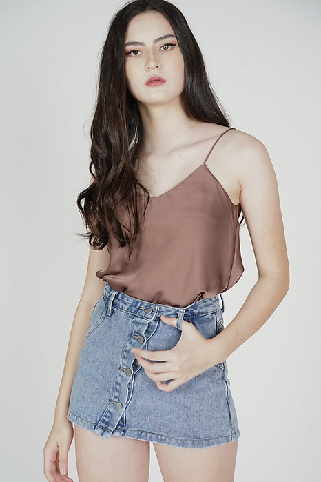 Saina Cami Top in Brown - Online Exclusive
