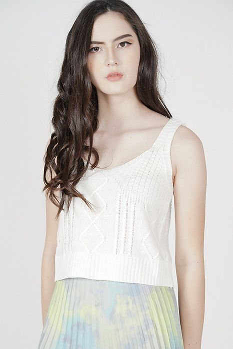 Sheini Knit Top in White - Online Exclusive