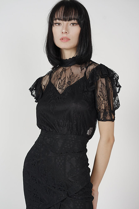 Staci Lace Top in Black