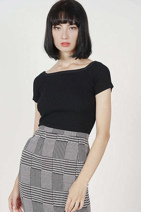 Rila Knit Top in Black - Online Exclusive