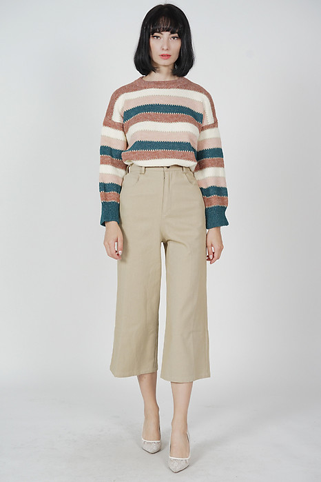 Elsey Striped Sweater in Brown - Arriving Soon