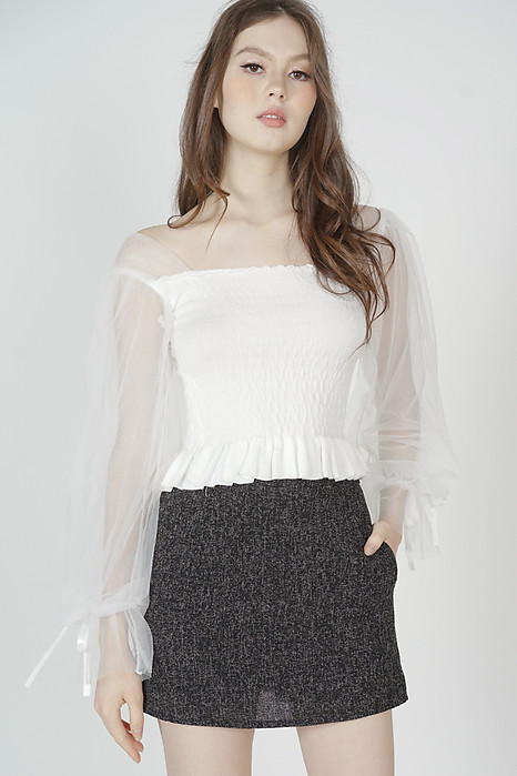Valo Mesh Top in White - Online Exclusive
