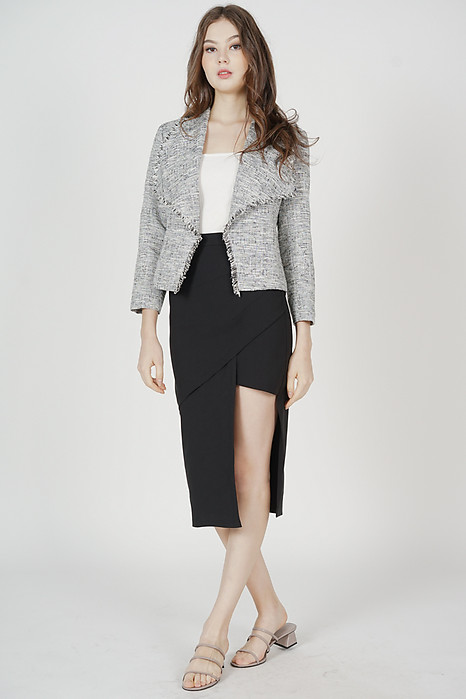 Paden Tweed Jacket in Grey - Arriving Soon