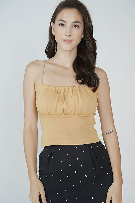 Saem Cami Top in Mustard - Online Exclusive