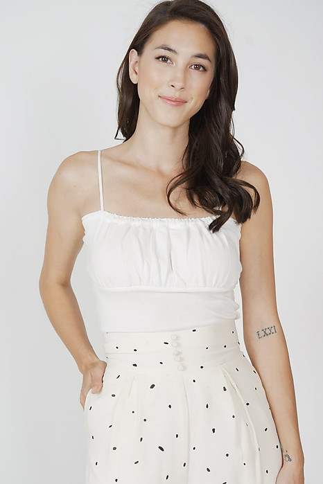 Saem Cami Top in White - Arriving Soon