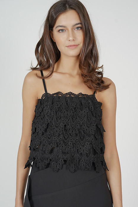 Tessi Crochet Top in Black - Arriving Soon