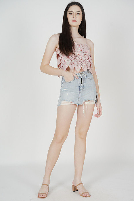 Tessi Crochet Top in Pink - Arriving Soon