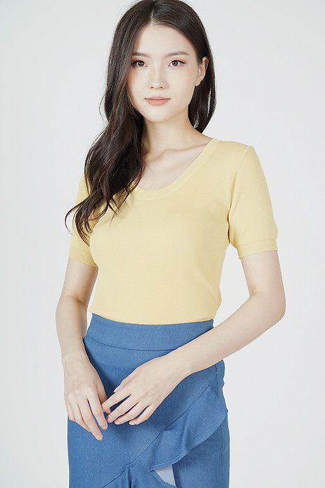Kitza Top in Mustard