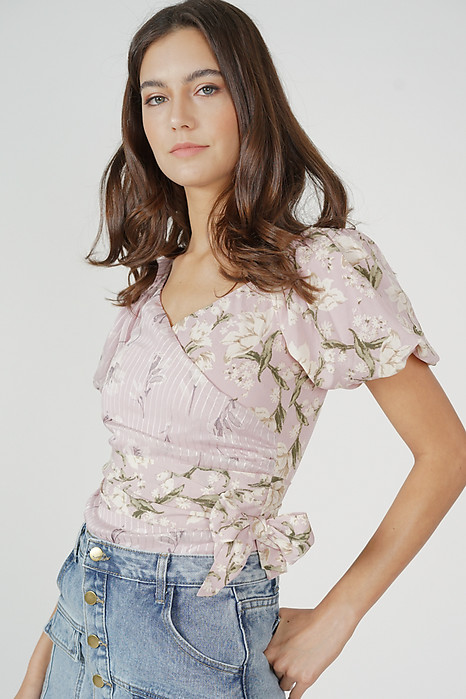 Ethelda Tie Top in Pink Floral - Arriving Soon