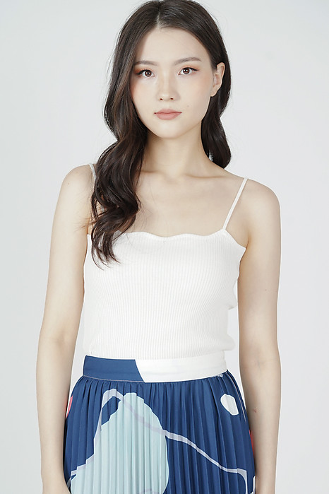 Lorain Cami Top in White - Online Exclusive