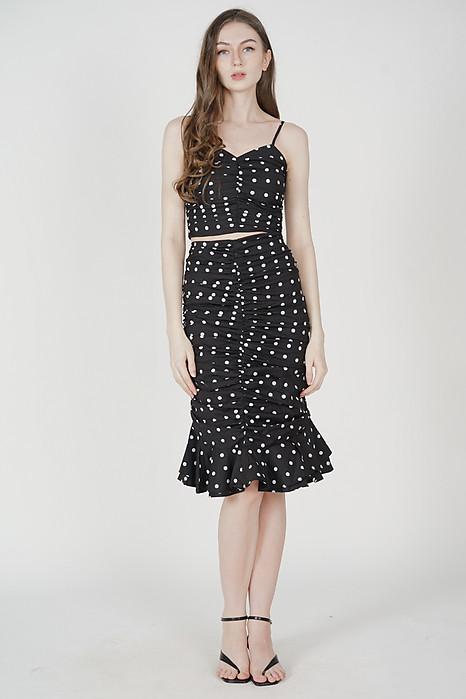 Lilah Cami Top in Black Polka Dots - Arriving Soon