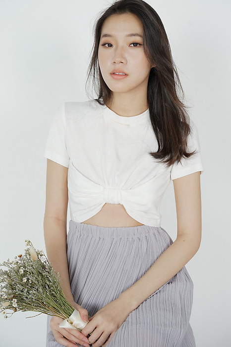 Yeriel Cropped Top in White - Arriving Soon