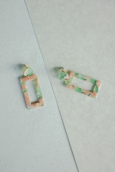 Floral Inspired Acetate Earrings - Arriving Soon