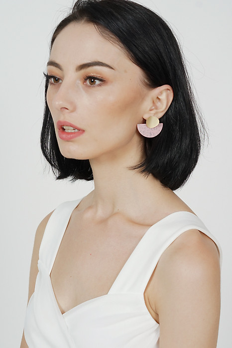 Shania Arc Earrings in Pink -  Arriving Soon