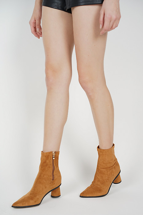 Robyn Ankle Boots in Khaki - Arriving Soon
