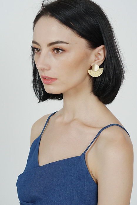 Shania Arc Earrings in Daffodil -  Arriving Soon