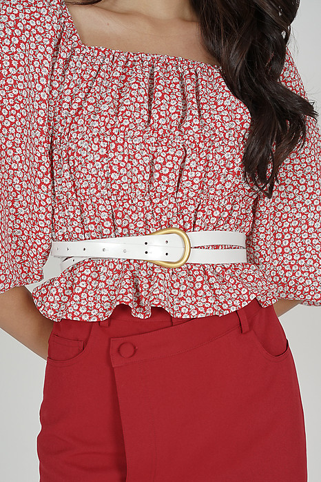Orfia Belt in White - Arriving Soon