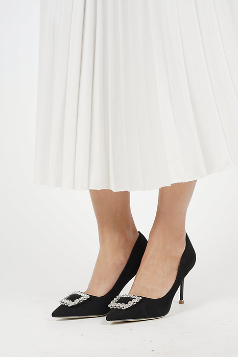 Diamante Pumps in Black - Arriving Soon