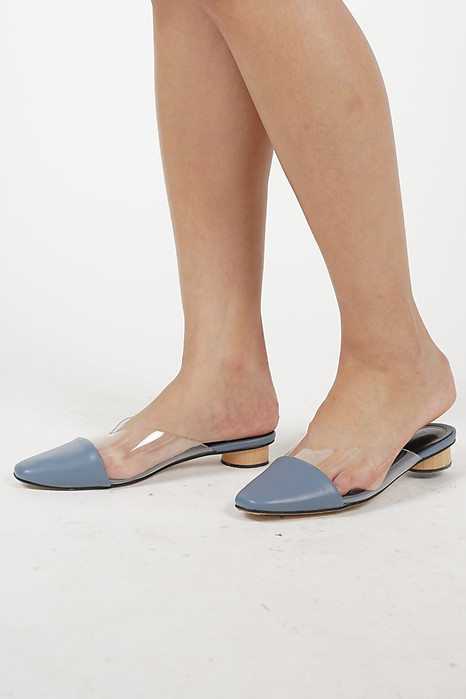 Rinae PVC Mules in Blue - Arriving Soon