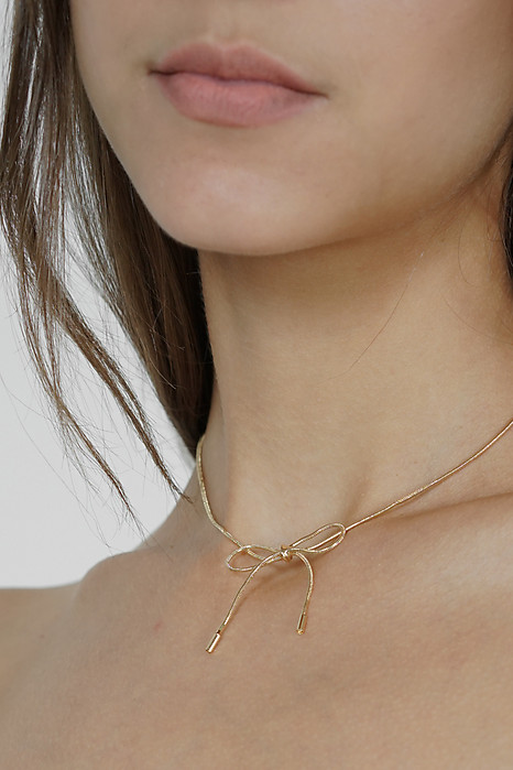 Knotted Choker in Gold - Arriving Soon