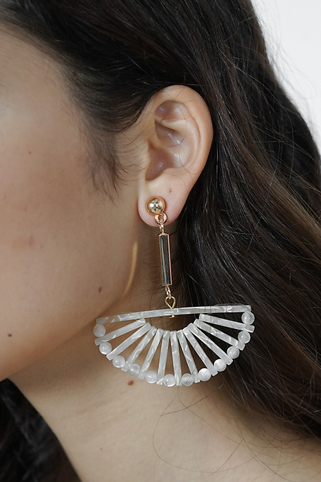 Nacre Half Moon Earrings - Arriving Soon