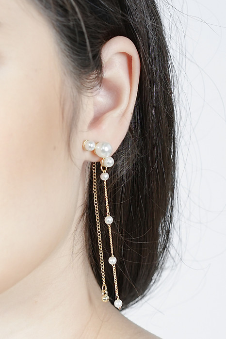 Cordis Pearl Earrings in Gold - Arriving Soon