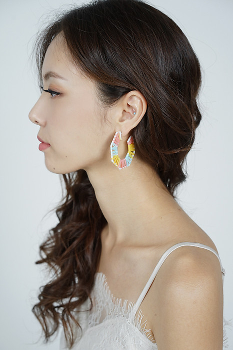 Paisley Beaded Earrings in Pastel - Arriving Soon