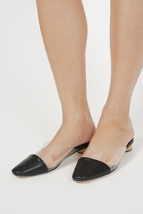 Rinae PVC Mules in Black - Arriving Soon