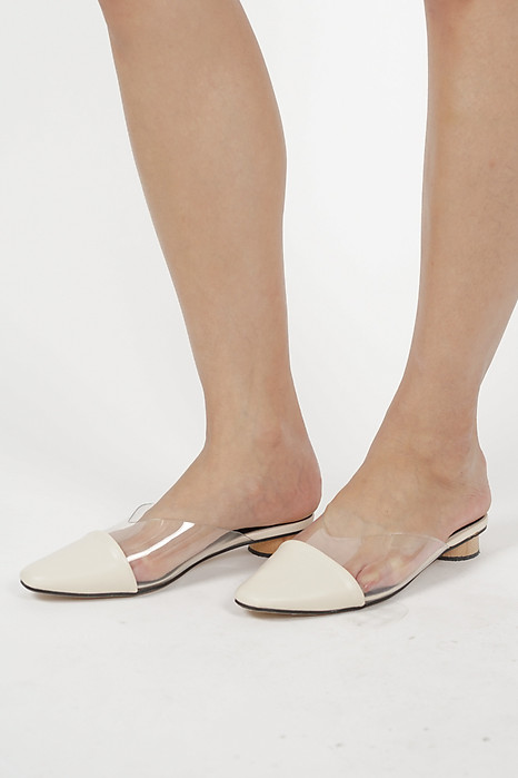 Rinae PVC Mules in White - Arriving Soon