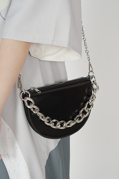 Carlee Semicircle Bag in Black - Arriving Soon