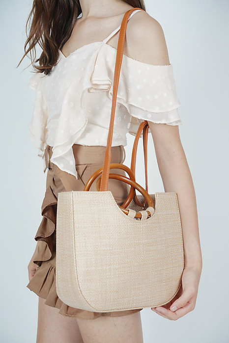 Structured Wood Handle Bag - Arriving Soon