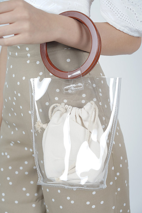 Mini Wood Handle Clear Tote - Arriving Soon