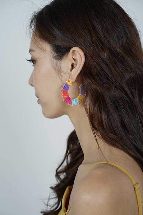 Paisley Beaded Earrings in Rainbow - Arriving Soon