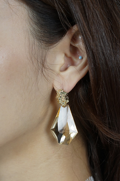 Bahira Earrings in Citrine - Arriving Soon