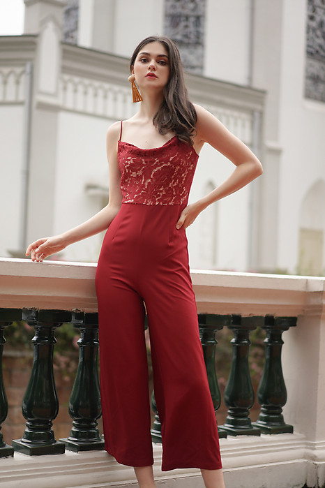 Meizer Cami Jumpsuit in Red
