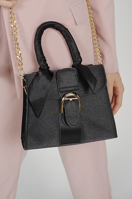 Shreya Ribboned Bag in Black - Arriving Soon