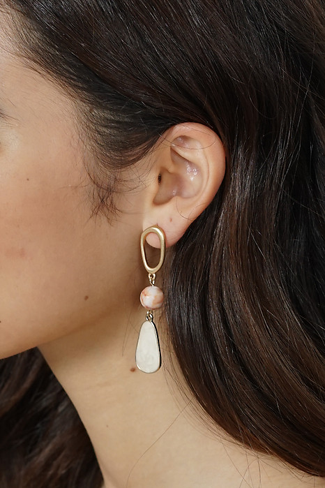 Jedna Earrings in Cream - Arriving Soon