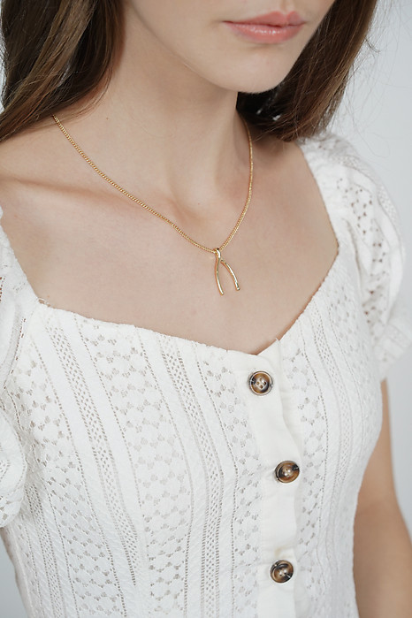 Wishbone Necklace in Gold - Arriving Soon