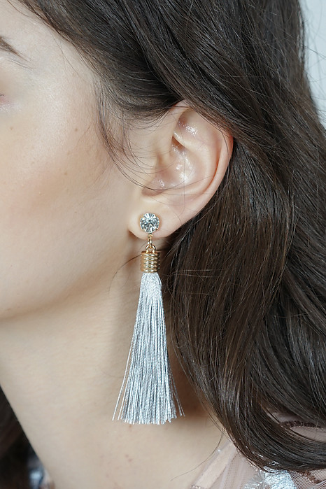 Camille Duster Earrings in Grey -  Arriving Soon