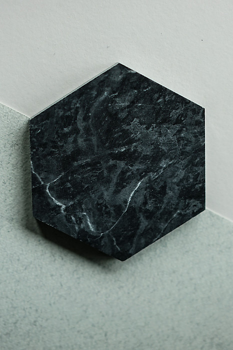 Hexagonal Board in Black Marble - Arriving Soon