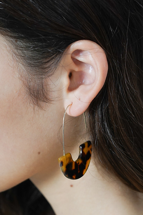 Josie Hoop Earrings in Tortoiseshell - Arriving Soon