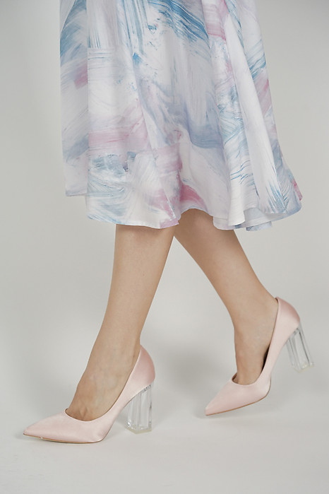 Tyra Satin Heels in Rose - Arriving Soon