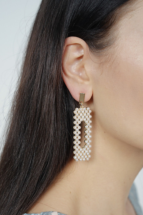 Pearl Barrette Earrings - Arriving Soon