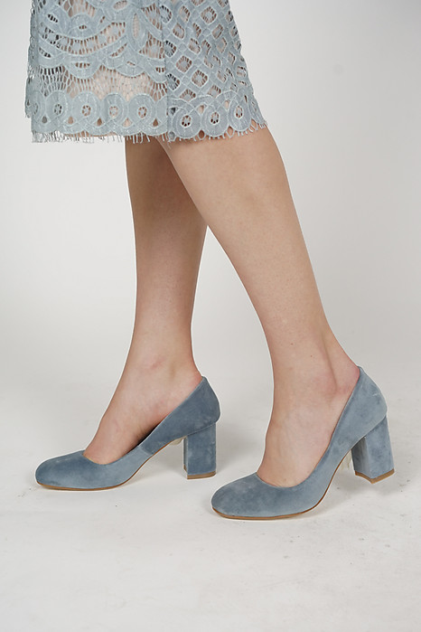 Arla Square Pumps in Blue - Arriving Soon
