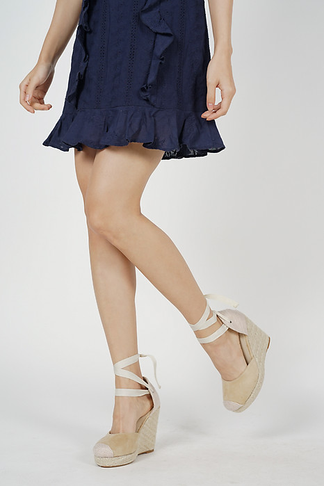Sienna Picnic Wedges in Nude - Arriving Soon