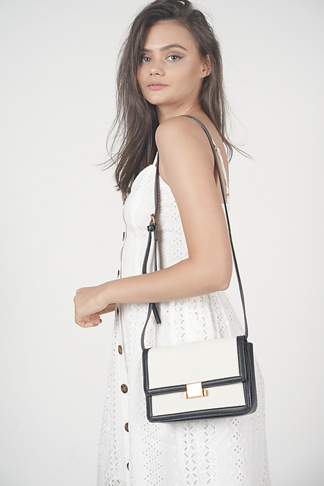 Monochrome Clasp Bag - Arriving Soon