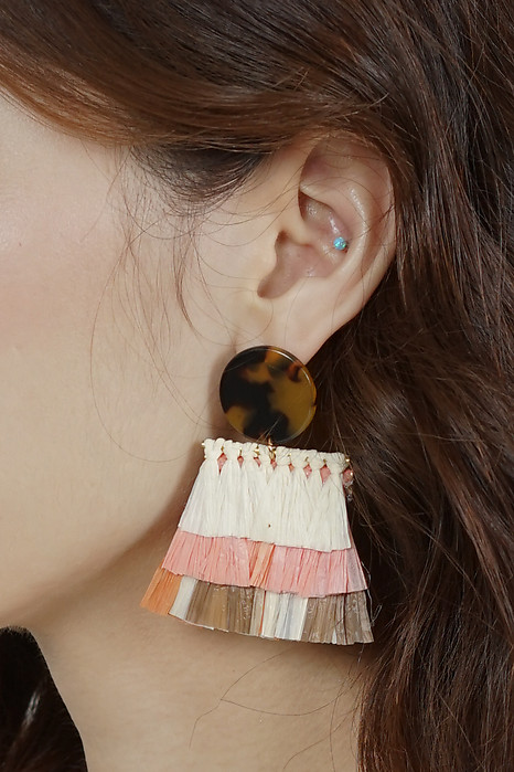 Gwyn Tassel Earrings in Salmon - Arriving Soon