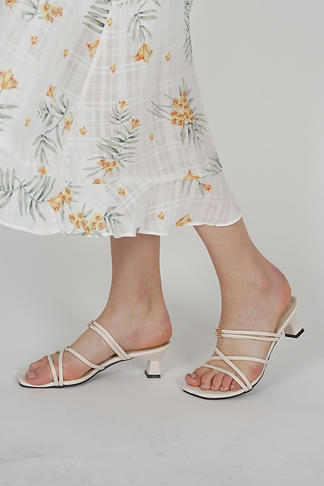 Hina Strappy Mules in Ivory - Arriving Soon