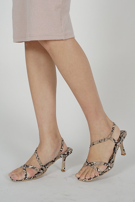 Quincy Heels in Snakeskin - Arriving Soon