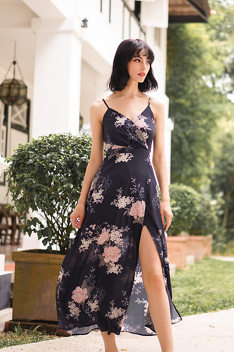 Madelyn Dress in Midnight Floral - Arriving Soon